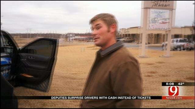 OK Co. Sheriff's Dept. Gives Cash Instead Of Tickets For Holidays