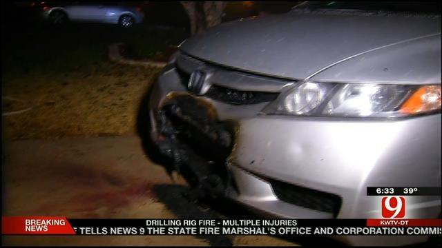 Explosion, Car Fire Rattle OKC Neighborhood Early Friday Morning