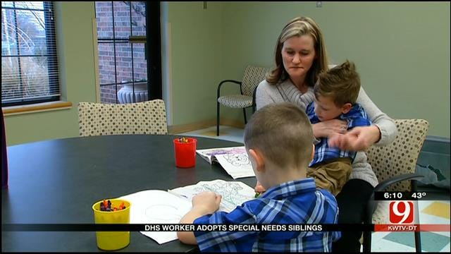 DHS Worker Adopts Special Needs Siblings