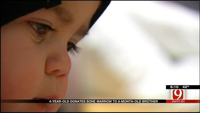 Hinton 4-Year-Old Donates Bone Marrow To Baby Brother