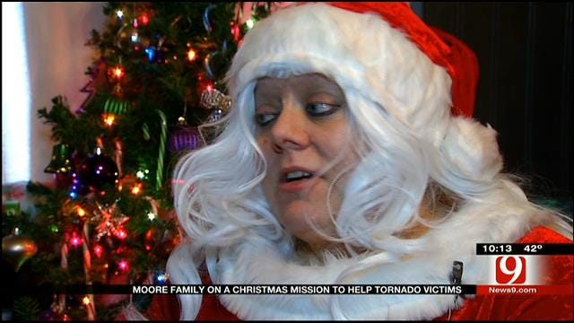 Moore Family On Christmas Mission To Help Tornado Victims