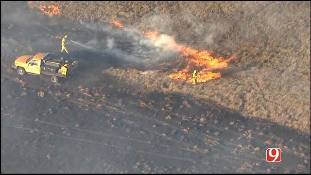 Grass Fire Burns Roughly 50 Acres In Norman