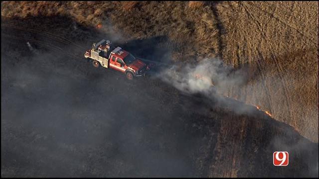 Crews Contain Grass Fire In OKC