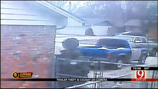 Trailer Theft In SW OKC Caught On Surveillance Camera