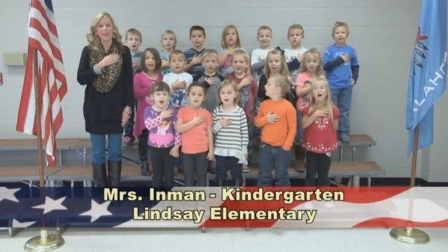 Mrs. Inman's Kindergarten class at Lindsay Elementary School