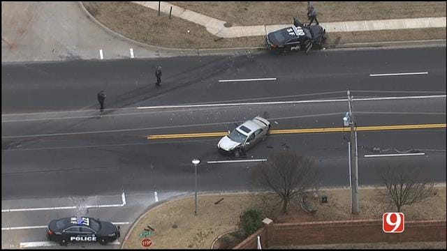 WEB EXTRA: Officer-Involved Accident In NW OKC