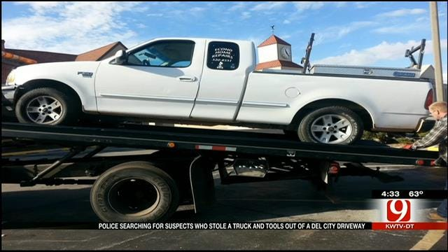 Thief Swipes Truck, Tools From Del City Business Owner