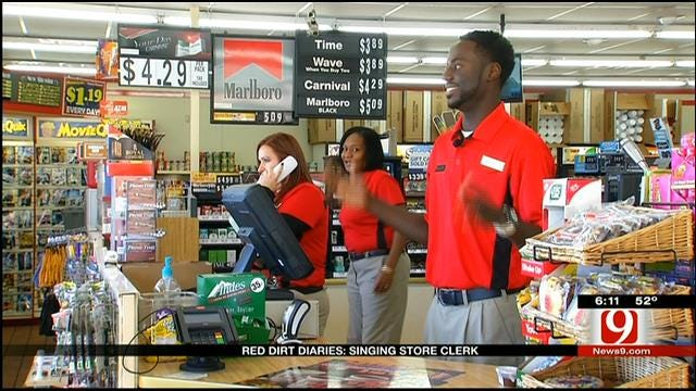 Red Dirt Diaries: Edmond Singing Store Clerk