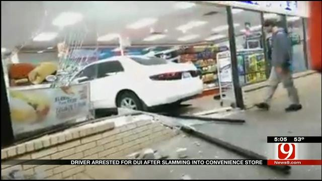 Driver Arrested For DUI After Slamming Into OKC 7-Eleven