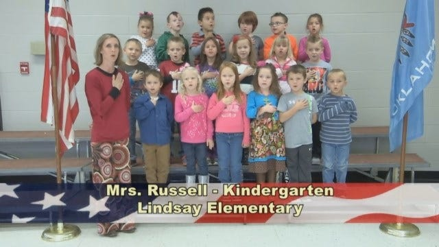 Mrs. Russell's Kindergarten Class At Lindsay Elementary