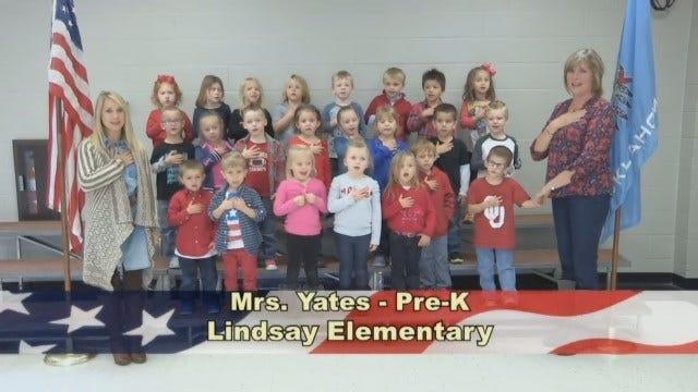 Mrs. Yates' Pre-K Class At Lindsay Elementary