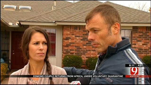 Edmond Couple Voluntarily Quarantines For Ebola