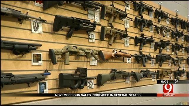 November Gun Sales Spike in Oklahoma