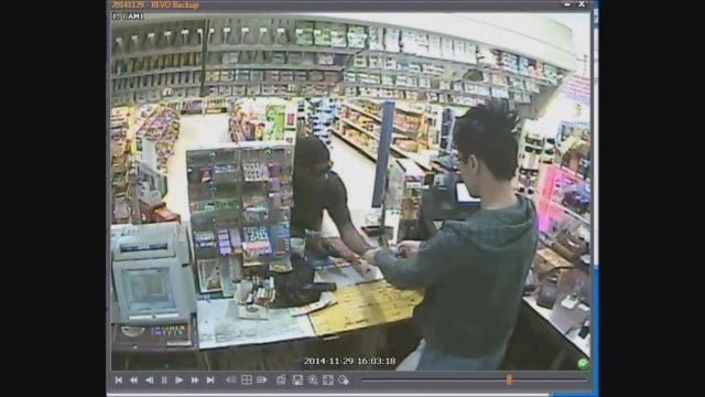 CAUGHT ON CAMERA: Armed Robbery Of Convenience Store