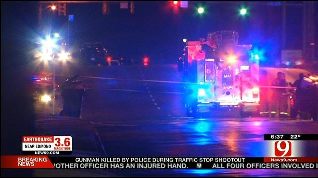 Two OKC Officers Shot; Alleged Gunman Dead Following Traffic Stop Shootout
