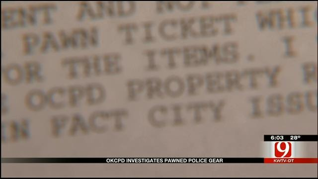 OKC Officer Accused Of Pawning City-Issued Equipment