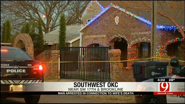 OKC Man Arrested On Murder Charge In Connection To Wife's Death