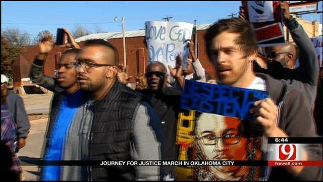Supporters Gather For 'Journey For Justice' In OKC