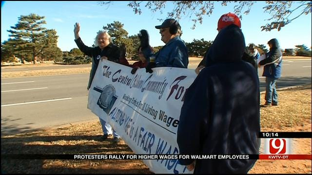 Protesters Gather To Boycott Black Friday In OKC