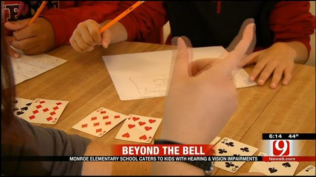 Monroe Elementary Caters To Children With Hearing, Vision Impairments