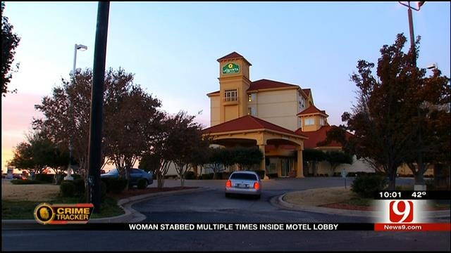 OKC Woman Stabbed Multiple Times Inside Motel Lobby