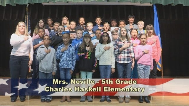 Mrs. Neville's 5th Grade Class at Charles Haskell Elementary School