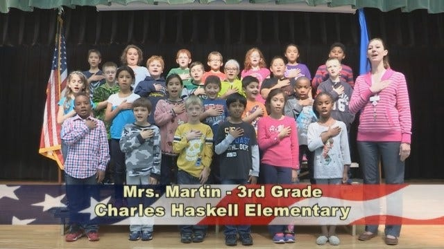 Mrs. Martin's 3rd Grade Class at Charles Haskell Elementary School