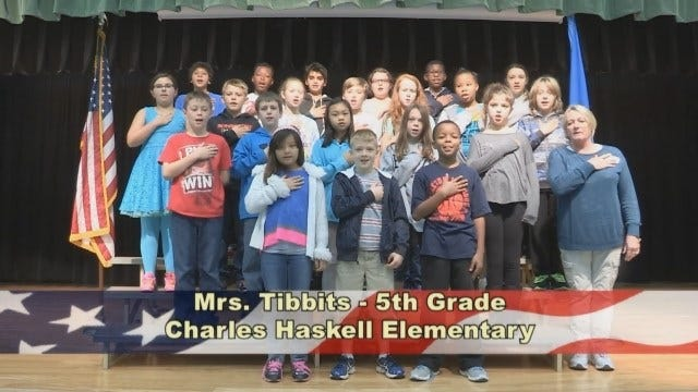 Mrs. Tibbits' 5th Grade Class At Charles Haskell Elementary School
