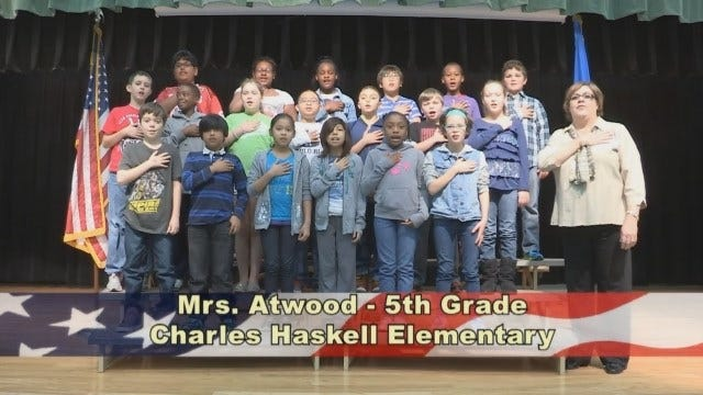 Mrs. Atwood's 5th Grade Class at Charles Haskell Elementary School