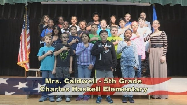 Mrs. Caldwell's 5th Grade Class at Charles Haskell Elementary School