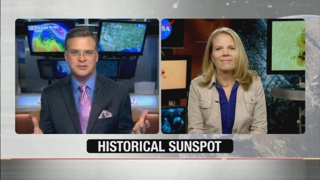 WEB EXTRA: Jed Castles Talks To NASA About Historical Sunspot Rotating To Face Earth