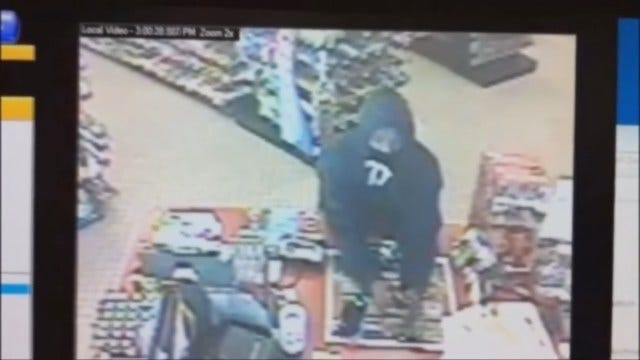 WEB EXTRA: Man Caught On Camera Robbing OKC Convenience Store At Gunpoint