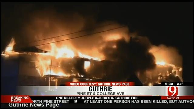 Child Killed, Multiple Injuries Reported In Large Guthrie Fire
