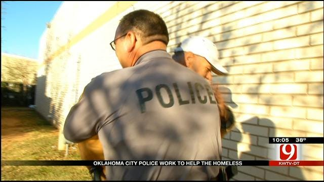OKC Police Connect With City's Homeless Population