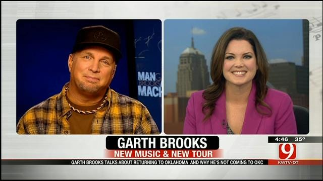 Garth Brooks Talks With News 9's Lacie Lowry