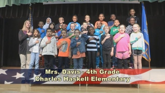 Mrs. Davis' 4th Grade Class Charles Haskell Elementary School