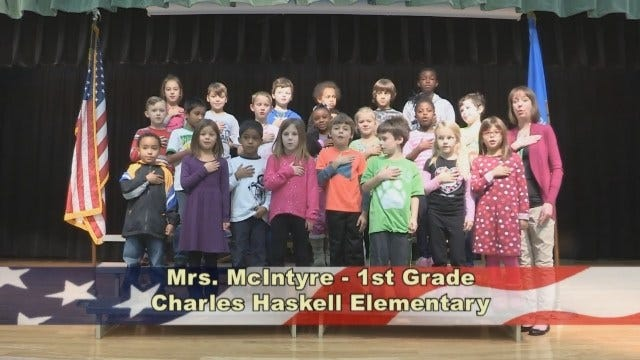 Mrs. McIntyre's 1st Grade Class At Charles Haskell Elementary