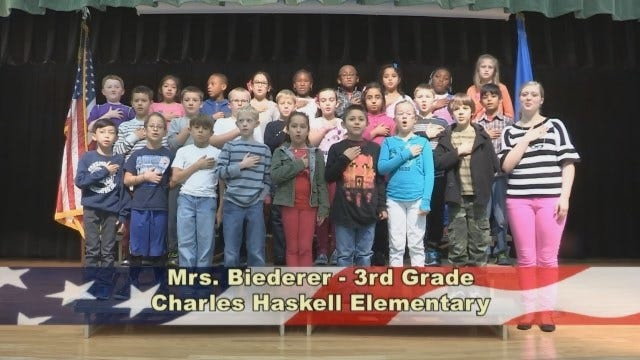 Mrs. Biederer's 3rd Grade Class At Charles Haskell Elementary