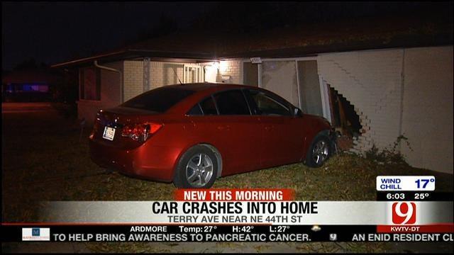 Police: Driver Flees After Crashing Into NE OKC Home