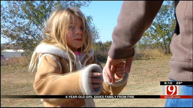 Chickasha Girl, 6, Saves Family From House Fire