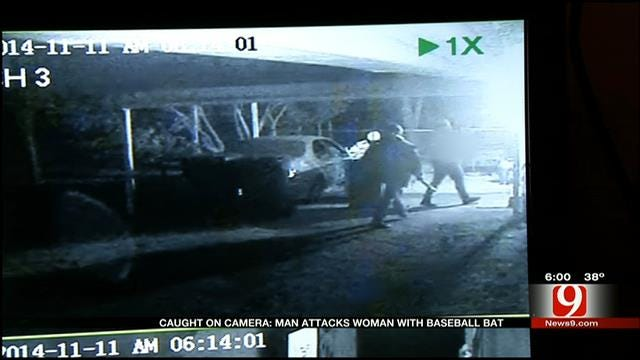 Caught On Camera: OKC Woman Attacked With Baseball Bat