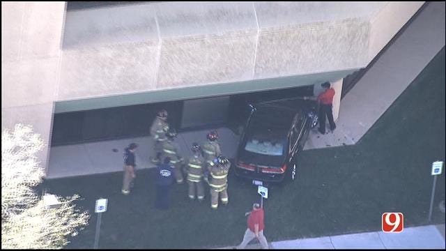 WEB EXTRA: Car Crashes Into Building At Mercy Hospital Health Complex