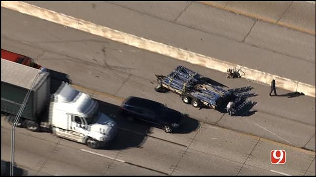 WEB EXTRA: Bob Mills SkyNews 9 HD Flies Over Accident On I-44 In NW OKC