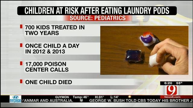 Study: Laundry Pods Pose Poisoning Threat To U.S. Children