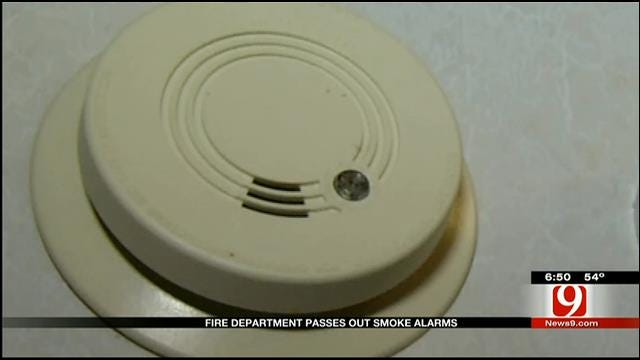 Earlsboro Firefighters Pass Out Smoke Alarms