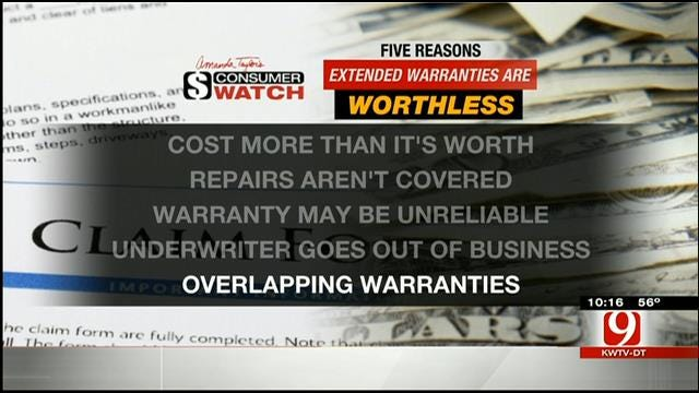 Five Reasons 'Extended' Warranties Are Worthless