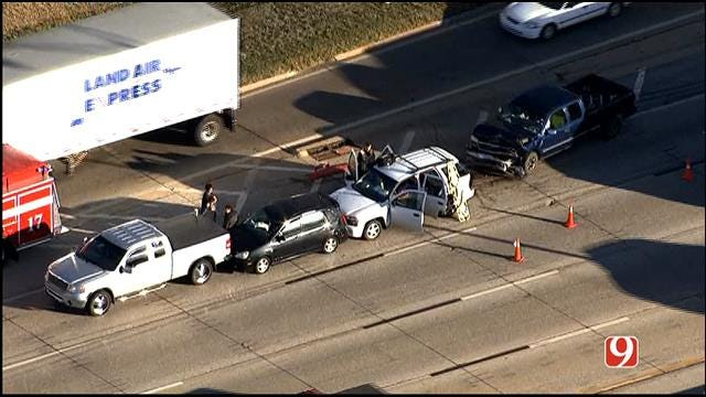 Four Vehicles Involved In Crash On I-44 In NW OKC
