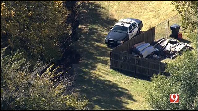 WEB EXTRA: Bob Mills SkyNews 9 HD Flies Over Police Search In Southwest OKC