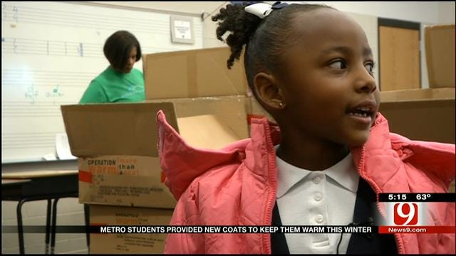 Program Provides Coats To Students Around OKC Metro