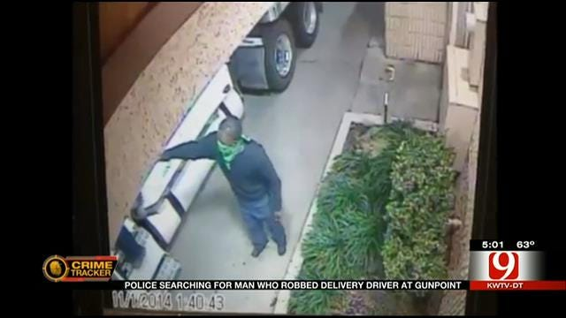 OKC Police Search For Man Who Robbed Delivery Driver At Gunpoint